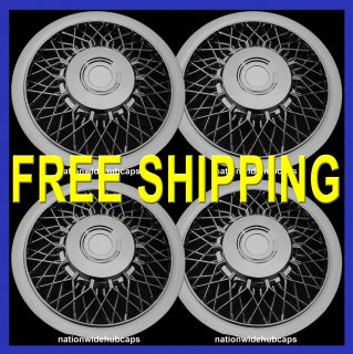 15 Chrome Wire Spoke Hub Caps Full Wheel Covers Rim Wheels Rims