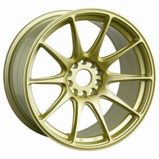 17 XXR 527 Gold Rims Wheels 17x9 75 25 5x100