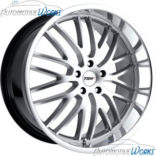 Snetterton 5x108 5x4 25 40mm Hyper Silver Mirror Rims Wheels Inch 17