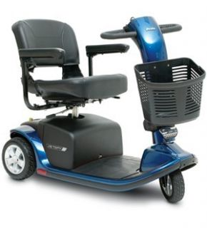 Pride Victory 9 Electric Mobility 3 Wheel Scooter Blue