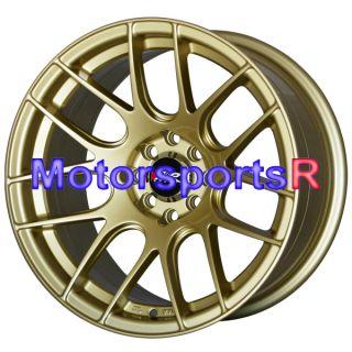15 15x8 25 XXR 530 Gold Concave Rims Wheels Stance 4x100 Miata E30