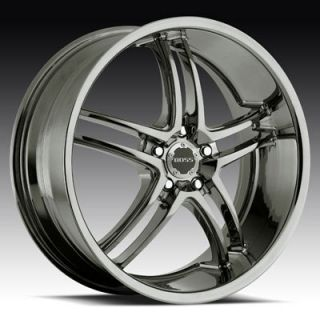 340 (AMERICAN EAGLE) BLACK CHROME BLAZER S10 CAMARO IMPALA WHEELS RIMS