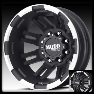METAL MO963 BLACK MACHINED CK2500 RAM F250 F350 DUALLY WHEELS RIMS