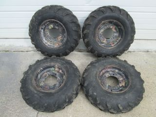 Sportsman 500 HO 4x4 Front Rear Wheels Camo Rims 25 Tires