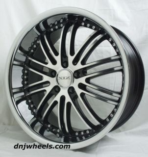 X23 Chevrolet Corvette C4 C5 Staggered Machine Black Wheels Toyo Tires