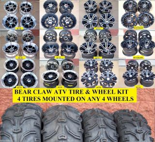 25 Honda Rancher Bear Claw ATV Tire SS Wheel Complete Kit Lifetime