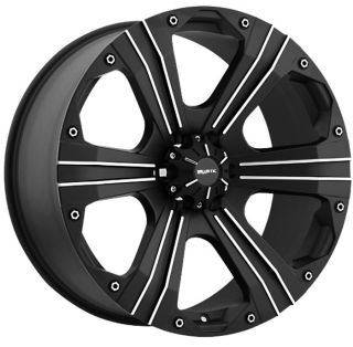 OUTLAW 8X170 FORD F250 F350 SUPERDUTY BLACK WHEELS RIMS FREE LUGS