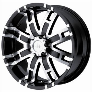 17 inch Helo HE835 Black Wheels 8x170 Ford F250 F350