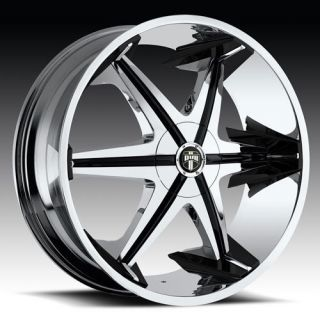 28 Dub Big Homie with Shooz Wheel Set 28x10 Chrome Rims rwd 5 6 Lug