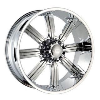 26 DW 903 Chrome Wheels Rims 315 40 26 Tires 8 Lug Hummer H2 24 22 20