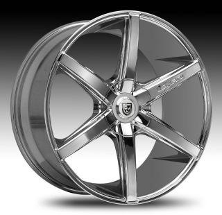 26 Lexani Wheels R 06 Chrome Rims Tire Navigator Escalade Range Rover