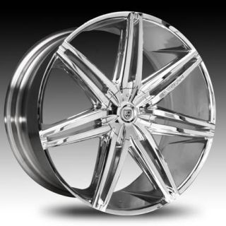 Lexani Wheels Johnson II Chrome Rims Tires Escalade Yukon Armada 24 26