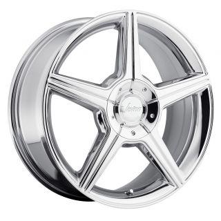 Chrome Wheels Rims 5x4 25 5x108 38 Continental LS Sable