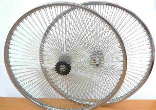 Beach Cruiser Bike 26 Rear Front Rims 140 Spokes Wheels Coaster Brake