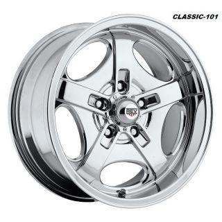 17 Chrome REV Classic Wheels Chevy Camaro Pontiac Firebird 5x4 75 17x8