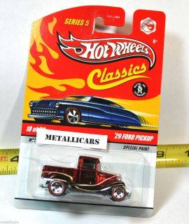 HOT WHEELS CLASSICS SERIES 5 REDLINE 1929 29 FORD PICKUP TRUCK