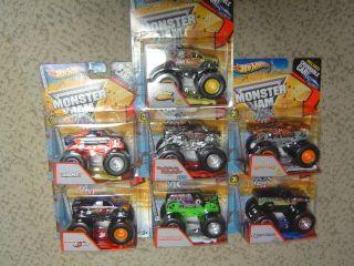 Hot Wheels Monster Jam 2013 Wave 1 / A Case Set of 7 Team Hot Wheels