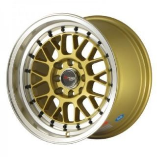 15 Drag DR44 Gold Rims Wheels 15x8 25 25 4x100 BWM E30 Scion XB Mazda