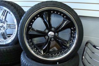 20 FOOSE Nitrous Black Wheels 245 35 20 285 30 20 Nitto 555 Tires