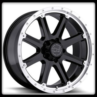 MOAB OFF ROAD BLACK RHINO MACHINED WRANGLER SUBURBAN TAHOE WHEELS RIMS
