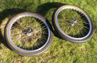 20 Old School BMX Rims 36 Hole with Suzue Hubs Old School Vintage