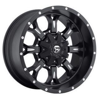 MHT Fuel Krank 5x150 ET25 Matte Black Milled Wheels 4 New Rims