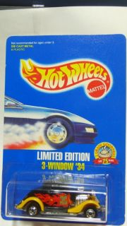 Hot Wheels Limited Edition 3 Window 34