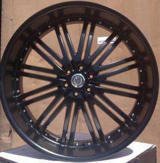 28 VER212 Matte Black Wheels Tires 6x139 7 Avalanche Tahoe Yukon 2007