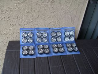 Tires Rims 1 18 Scale Jada Dub 8 Sets of Wheels 4 Styles w Spinners