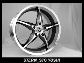 20 Stern St 6 Yoshi Wheels Rims Buick Cadillac Chevrolet Infinity