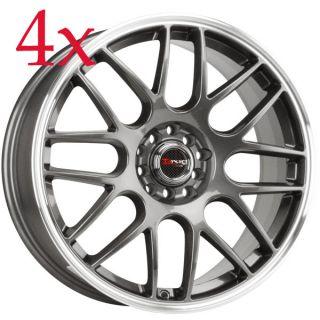 Drag Wheels DR 34 17x7 5 5x100 5x114 3 et45 Gun Metal Rims neon