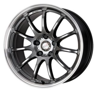 17 Work Emotion 11R Silver Rims Wheels 17x7 38 4x100