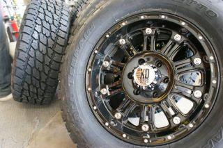 17 XD Hoss XD795 Gloss Black Rims 37 12 50R17 Nitto Terra Grappler at