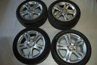 E500 E320 E350 Rims Wheels Tires 17x8 38 2114013602 Set Wheel