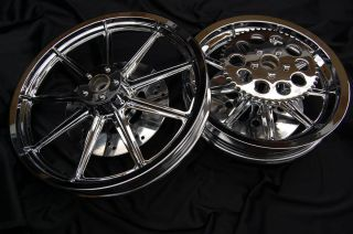 Sportster 883 1200 XL Chrome Rims Wheels Rotors 9 Spoke 86 99