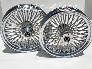 HARLEY DAVIDSON WHEELS SET 4 FAT BOY FLST FLSTF SOFTAIL FAT SPOKE