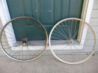 Vintage 1950s Bicycle Wheels Coaster Brake 22 5 36 Spoke