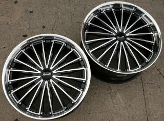 Gianelle Trentino L2 22 Black Rims Wheels Lexus LS460 22 x 9 0 10 5