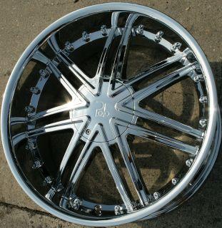 Polo Lupus 981 24 Chrome Rims Wheels BMW E38 E65 7 Series 24 x 9 5 5H