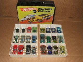 Hot Wheels Redline Lot 24 Cars w Collectors Race Case 1967 1974