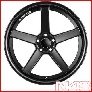 20 Cadillac cts Stance SC 5IVE Matte Black Concave Wheels Rims