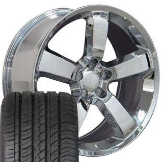 Chrome Charger SRT Wheels Set of 4 Rims 4 ZR Tires Fit Dodge