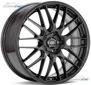 18x8 Enkei EKM 3 5x110 40mm Gunmetal Rims Wheels inch 18