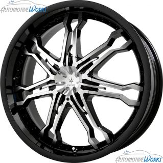 Verde Calibre 5x100 5x115 42mm Gloss Black Wheels Rims inch 20