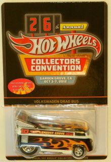 Hot Wheels 2012 26th Convention Dinner with Sticker VW Drag Bus 2 000