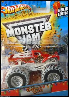 Hot Wheels Monster Jam Truck Captains Curse Holiday Edition 2012