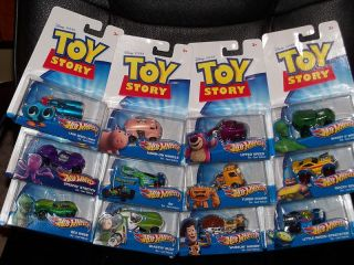 Disney Pixar Toy Story Hot Wheels Lot of 12 Diecast New