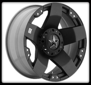 Rockstar XD775 Black Rims Nitto 265 70 17 Terra Grappler Wheels