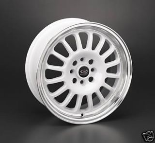 16 Rota Track R White Rims Wheels 16x7 40 4x100 Fit Mini Cooper Civic