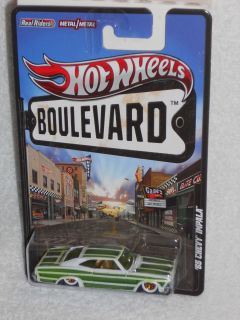 Hot Wheels 2012 Boulevard Series Big Hits 65 Chevy Impala White Green